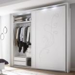 Chambre complète 160x200 Blanc - LADY