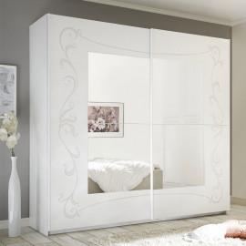 Armoire 2 portes coulissantes 220 cm - ESMERALDA