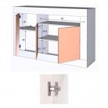 Buffet 3 portes 1 niche Blanc/Pin blanc - BALTOP