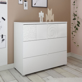 Commode 3 tiroirs Blanc - FIORI