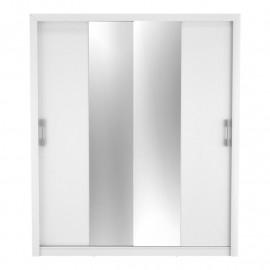 Armoire 2 portes coulissantes Blanc - CIGABA