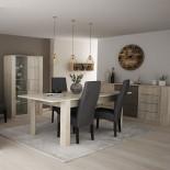 Salle à manger complète Chêne beige/Béton - LYON