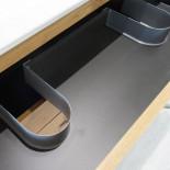 Meuble sous vasque 3 tiroirs 60 cm Blanc - LANA