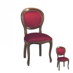Duo de chaises médaillon Régence Bordeaux - ROGI