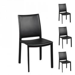 Quatuor de Chaises noires - LAKE