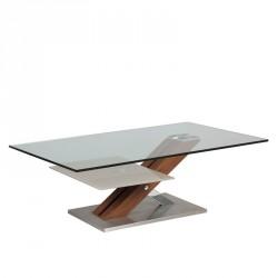 Table basse en verre et bois - ARY