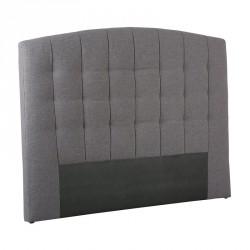 Tête de lit tissu Gris 140 cm - MARONI