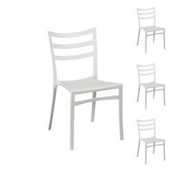 Quatuor de chaises Blanches - YMA