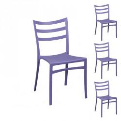 Quatuor de chaises Violettes - YMA