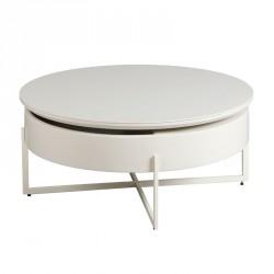Table basse Acier/Bois/Céramique - RANDO