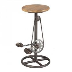 Tabouret à pédales bois et acier - COCLY n°1